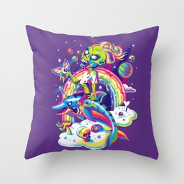 Rainbow Apocalypse Throw Pillow