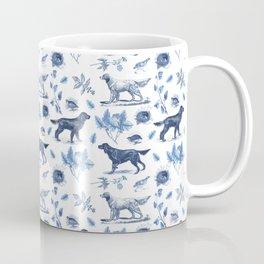 BIRD DOGS & CALSSIC BLUE FRENCH PORCELAIN Coffee Mug