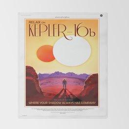 Kepler 16b Throw Blanket