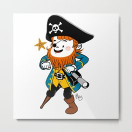 Pirate's Ahoy! Metal Print