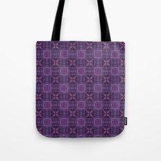 Dark purple quilt pattern Tote Bag