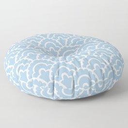 Fan Pattern Light Blue 110 Floor Pillow