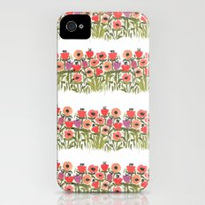 Flower stripe garden iPhone (4, 4s) Slim Case