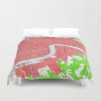 new orleans Duvet Covers featuring New Orleans by Larsson Stevensem