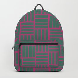 Lines 3 Pattern Backpack