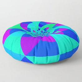 Orchid Aqua Turquoise Kaleidoscope Floor Pillow