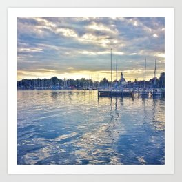 Reflections of Chiemsee Art Print