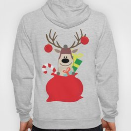 Santa Claus sends you Surprise gift with Mr Reindeer Hoody