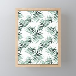 Watercolour Ferny Pattern Framed Mini Art Print