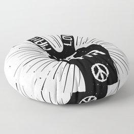 Peace make love not war Floor Pillow