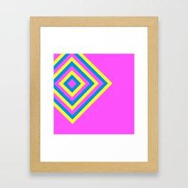 Retro Diamonds Pop Art Minimalism Framed Art Print