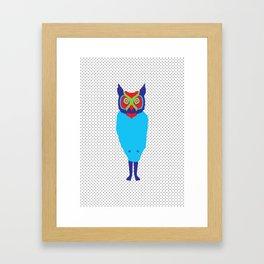 Animal Mardi Gras: Owl Framed Art Print