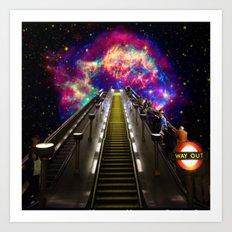 Stairway to Nowhere and Everywhere   London Tube Series Art Print