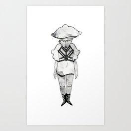 Fairy Ring Mushroom Girl Art Print