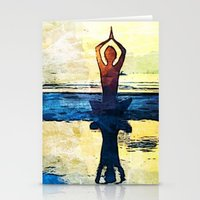 yoga Stationery Cards featuring yoga by Chantale Roger