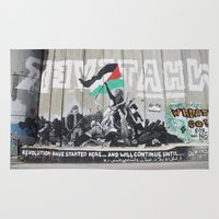 palestine Area & Throw Rugs featuring Bethlehem, Palestine by cathleenphotos