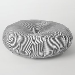 Moiré Waves One Floor Pillow