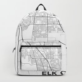 Minimal City Maps - Map Of Elk Grove, California, United States Backpack