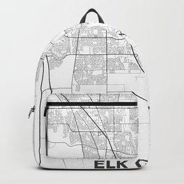 Minimal City Maps - Map Of Elk Grove, California, United States Backpack