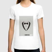 downton abbey T-shirts featuring Downton Abbey - Minimalist by Marisa Passos