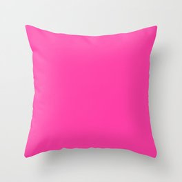 KNOCKHOUT PINK neon solid color  Throw Pillow