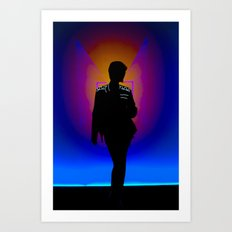 The Backlit Kit Art Print