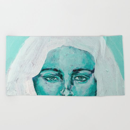 Mint Girl Beach Towel