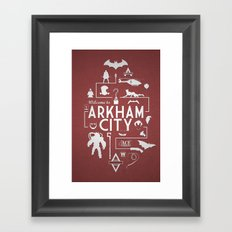 Welcome To Arkham City Framed Art Print
