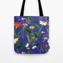 Vintage wild flowers blue Tote Bag