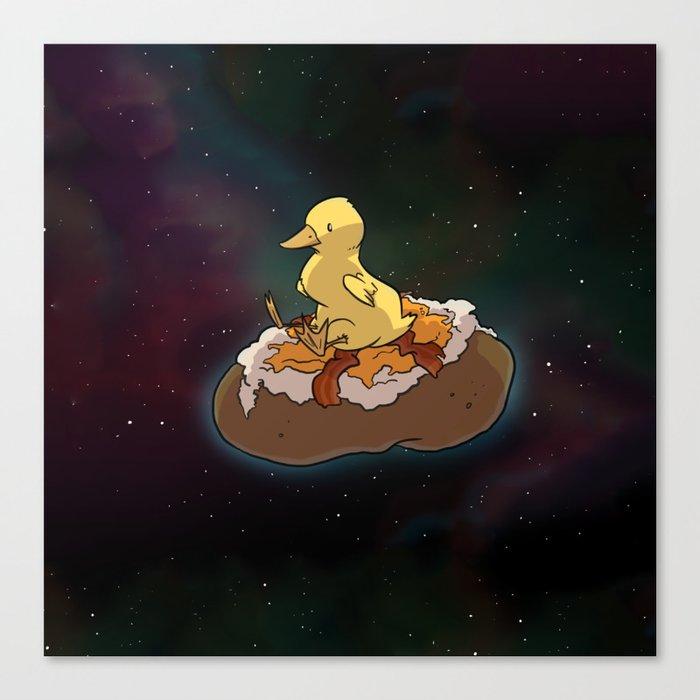 Space Duck Canvas Print