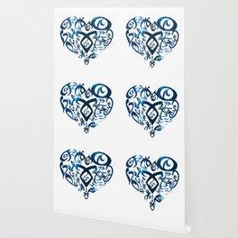 Shadowhunters rune - rune heart (blue galaxy)   Mundane   Parabatai   Alec, Izzy, Jace, Clary, Magnu Wallpaper