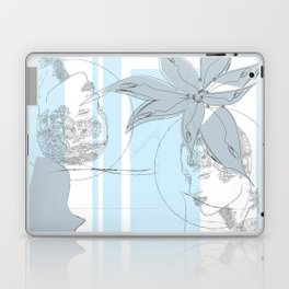 Floral Faces & Simple Lines Minimal Art Laptop & iPad Skin
