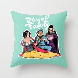 The Royal Family Throw Pillow