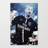 zlatan Canvas Prints featuring Zlatan Ibrahimovic by Max Hopmans / FootWalls
