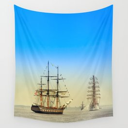 Sail Boston - Oliver Hazard Perry Wall Tapestry
