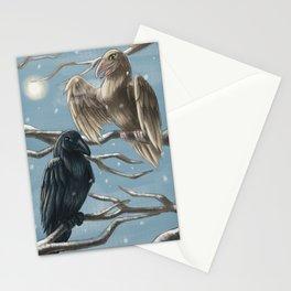 Winter Ravens Stationery Cards