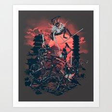 The Showdown Art Print