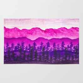 Purple and pink mountains Rug
