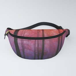 Whispering Woods, Colorful Landscape Art Fanny Pack