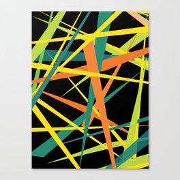 Yellow Fight Canvas Print