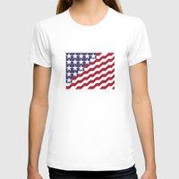 american flag T-shirts featuring American Flag by Mychal Diaz