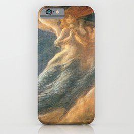 Paolo e Francesca (Swept Away) by Gaetano Previati iPhone Case