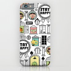 Pattern Stay Happy Animals iPhone 6s Slim Case