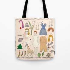 paper doll Tote Bag