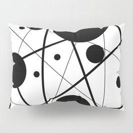 Abstract Lines and Dots Pillow Sham