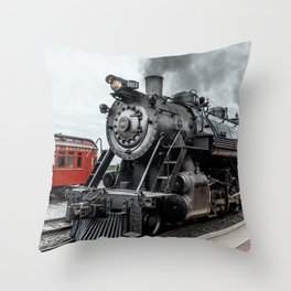 Strasburg Railroad Vintage Steam Locomotive Baldwin Train Engine Pennsylvania Throw Pillow