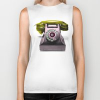 marylin monroe Biker Tanks featuring Call Marylin by KEFLIONE