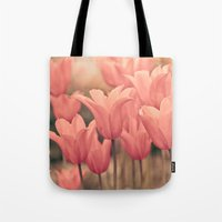 tulips Tote Bags featuring Tulips by Maria Heyens