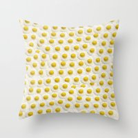 eggs Throw Pillows featuring Eggs by Tyler Spangler