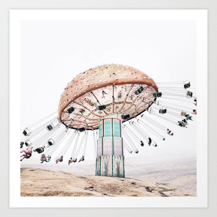 Mushroom Carousel Art Print